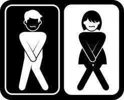 Toilet Sign-male-female. Bygningsskilt