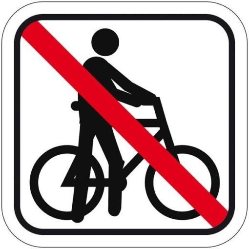 Trækning af cykel forbudt Piktogram. skilt