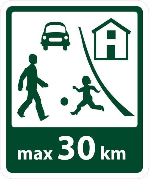 Trafik max25km skilt