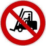 Truck forbudt ISO_7010_P006. Skilt