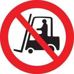 Truckkørsel forbudt skilt