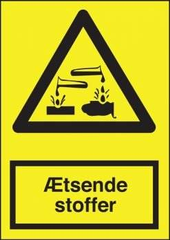 Advarselsskilt - Ætsende stoffer