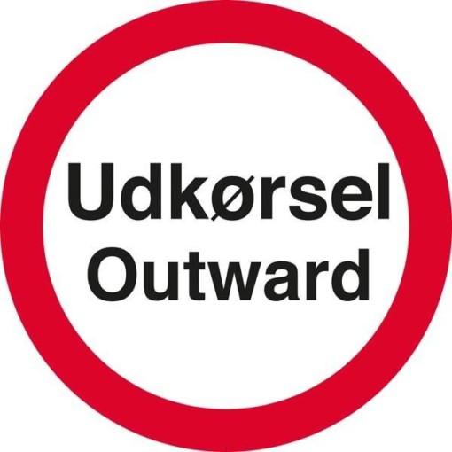 Udkørsel Outward Skilt