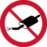 Udstødnings forbudsskilt