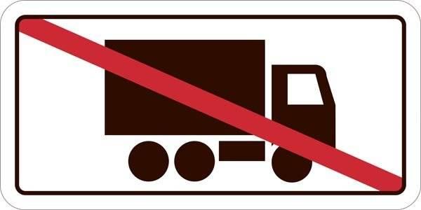 Lastbil forbudt. Forbudsskilt