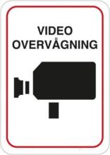 Video Overvågning Skilt