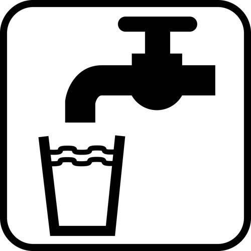 Vand - piktogram skilt