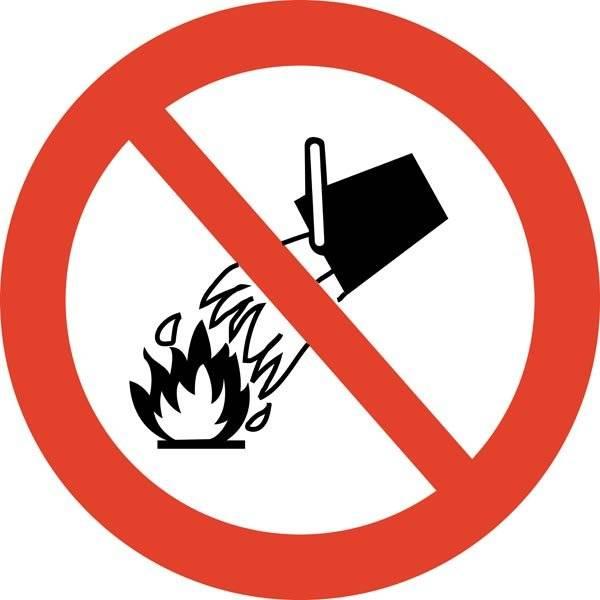 Vandslukning forbudt skilt