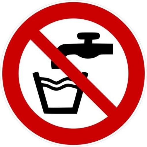 Vand forbudt Skilt