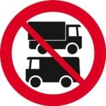 Varevogns forbud. Forbudsskilt