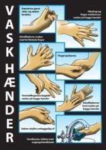 Vask hænder skilt