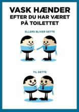 Vask hænder efter du har været på toilettet. Bygningsskilt