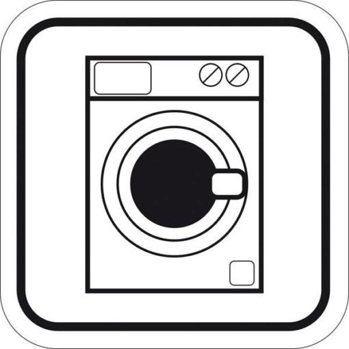 Vaskemaskine. Piktogram skilt