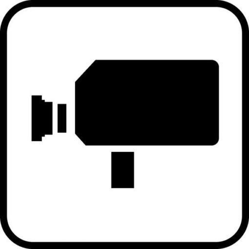 Video - piktogram. Overvågningsskilt
