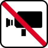 Video forbud - piktogram. skilt