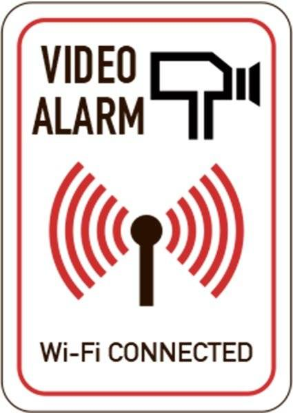 Video alarm Wi-Fi CONNECTED. Skilt