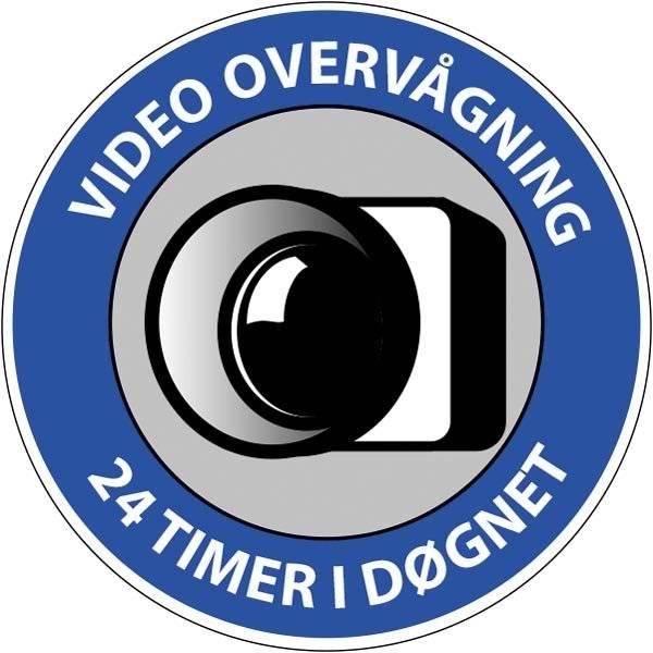 Video overvågning 24 timer i døgnet skilt