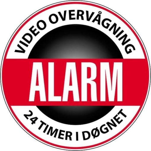 Video overvågning Alarm 24 timer i døgnet skilt