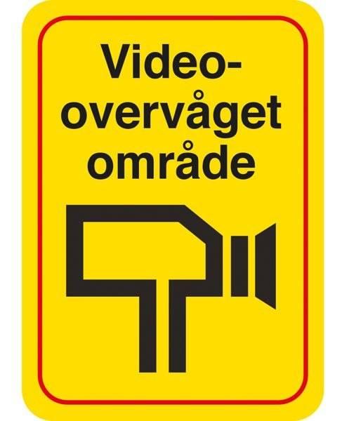 Videoovervåget Område. skilt