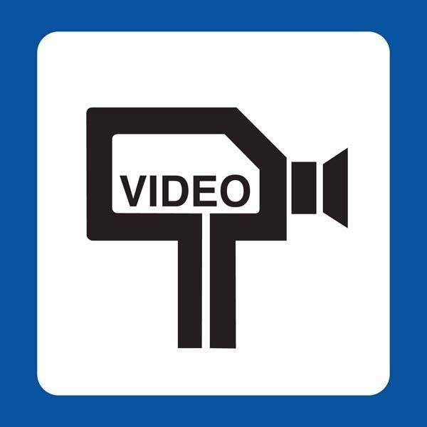 Video Piktogram skilt