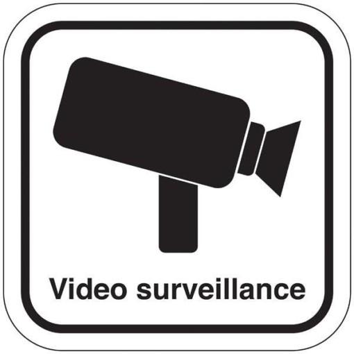 Video surveillance. Overvågningsskilt