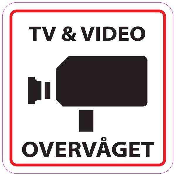 TV & Video overvågning piktogram