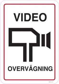 Video overvågning. skilt