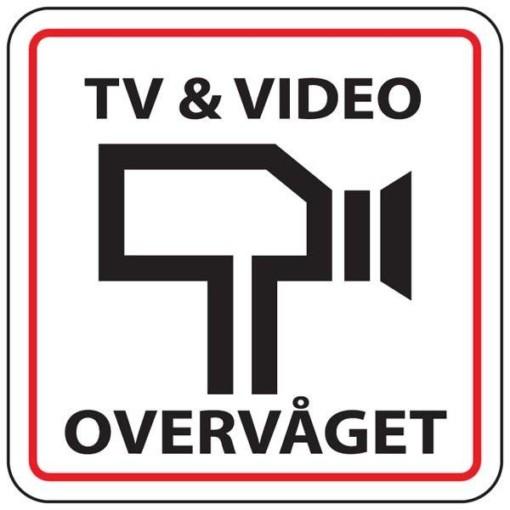 Videoovervågning. Piktogram skilt