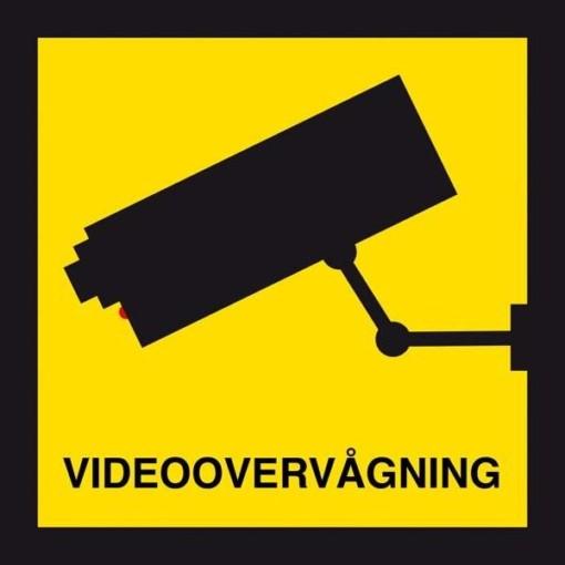 Videoovervågning. Skilt