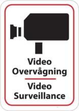 Video overvågning Video Surveillance. skilt