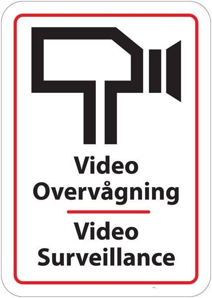Videoovervågningsskilt - Video Surveillance