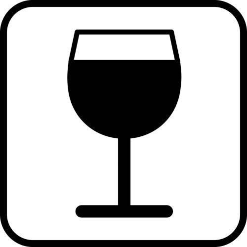 Vin - piktogram skilt