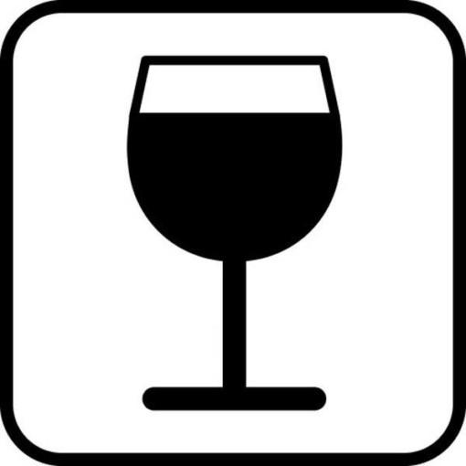 Vin - piktogram. skilt