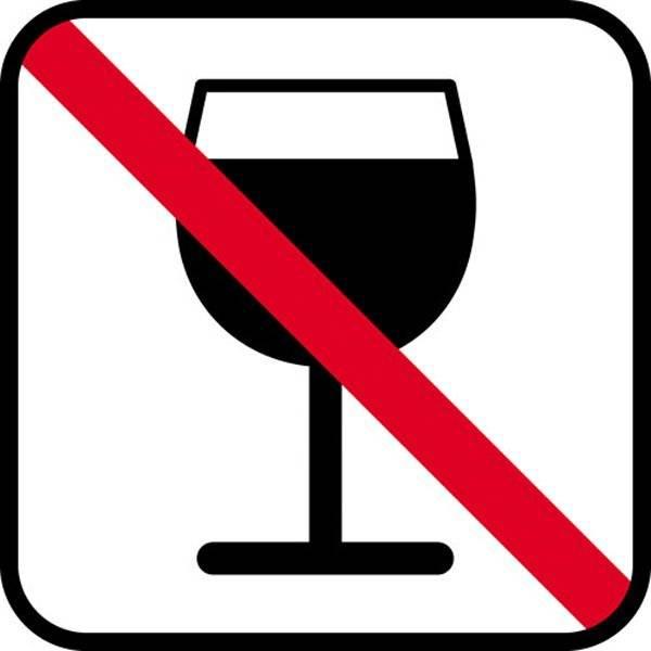 Vin forbud - piktogram skilt