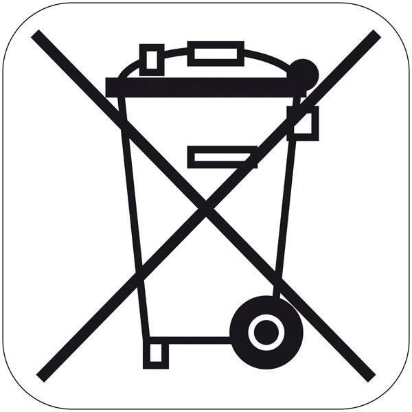 Waste Electrical & Electronic Equipment (WEEE). Piktogram skilt