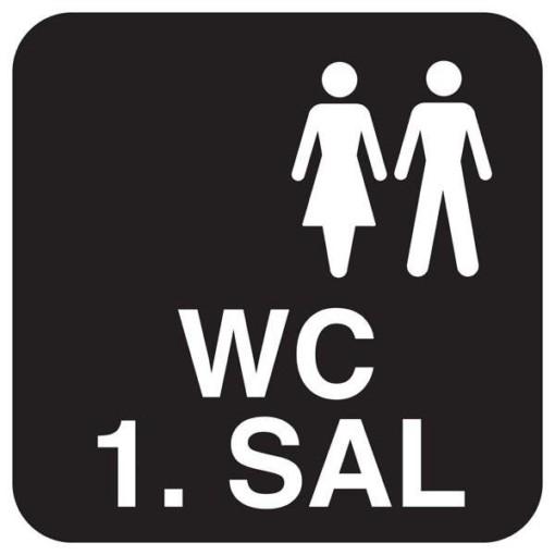 WC 1. SAL. Toiletskilt
