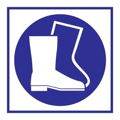 Wear Boots Påbudsskilt