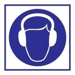 Wear Ear Protection Påbudsskilt