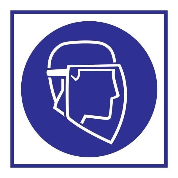 Wear Face Shield Påbudsskilt