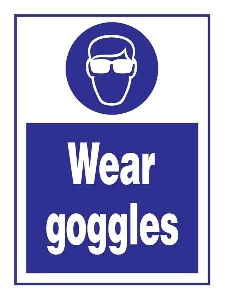 Wear Goggles: Påbudsskilt