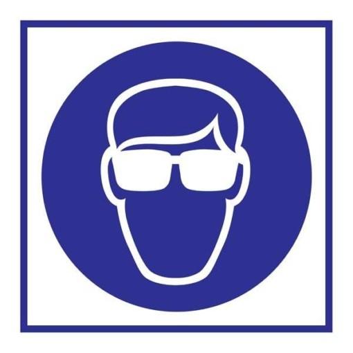 Wear Goggles Påbudsskilt