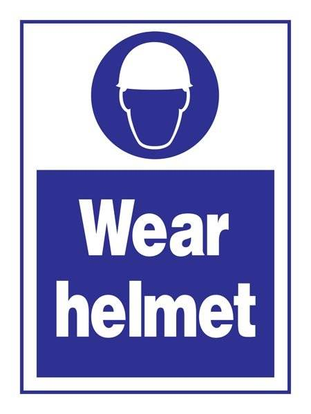Wear Helmet: Påbudsskilt