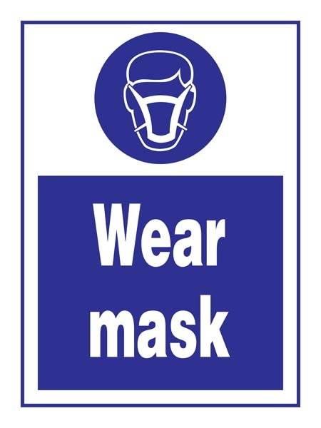 Wear Mask: Påbudsskilt