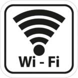 Wi-Fi piktogram. Piktogram skilt