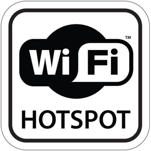 Wi Fi Hotspot. Piktogram skilt