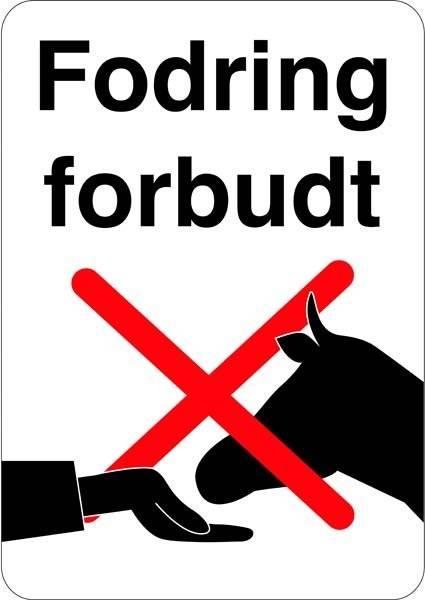 Fodring forbudt skilte