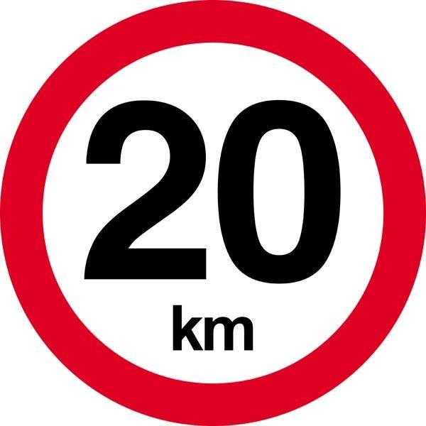 Hastighedsbegrænsnings skilte