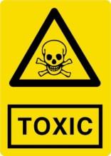 Advarsel TOXIC. Advarselsskilt