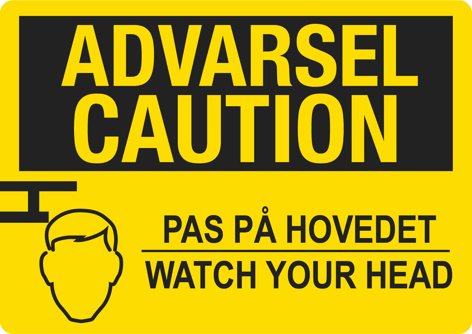 Advarsel Caution advarsel skilt