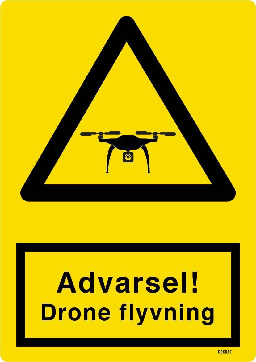 Advarsel! Drone flyvning skilt